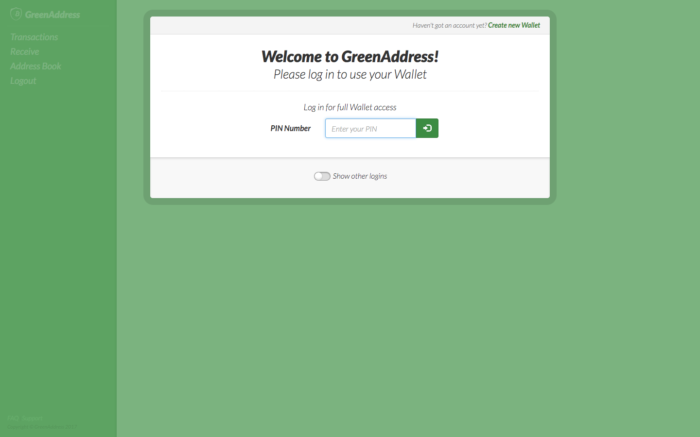 Electrum Wallet Cant Get In Deposit Money Into Greenaddress